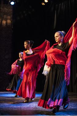 Flamencoauftritt Jugendliche
